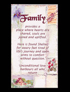 Laminated Holy Cards: Family
