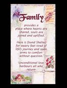 Laminated Holy Cards: Family