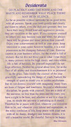 Laminated Holy Cards Desiderata