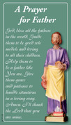 Laminated Holy Cards: Prayer for Fathers
