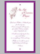 Laminated Holy Cards: Act of Contrition