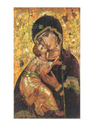 Laminated Holy Cards Icon Mother & Child