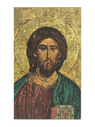 Laminated Holy Cards: Icon Christ 