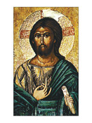 Laminated Holy Cards: Icon Christ #2
