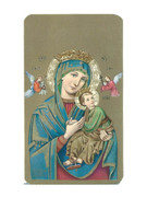 Laminated Holy Cards: Gold Edging: Our lady Perpetual S