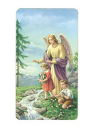 Laminated Holy Cards: Gold Edging: Guardian Angel