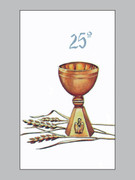 Laminated Holy Cards: 25th Anniversary #2