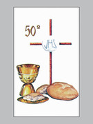Laminated Holy Cards: 50th Anniversary