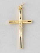 Small Crucifix: Gold 35mm (CR7735G)