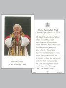 Laminated Holy Cards : Pope Benedict