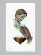 Laminated Holy Cards : Boy Communion