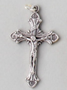 Small Crucifix: Silver, 40mm