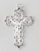 Small Crucifix: Silver Filigree 40mm (CR7535S)
