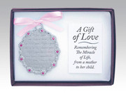 Crib Medal: A Gift of Love Pink