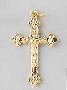 Small Crucifix: Gold Basilica, 37mm