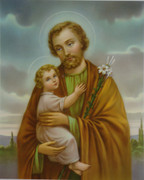 10 x 8 Print: St Joseph with Child Jesus