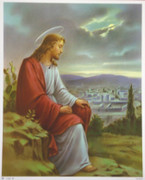 10 x 8 Print: Jesus Praying in Garden