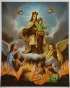 10 x 8 Print: Our Lady of Mt Carmel Souls Pergatory