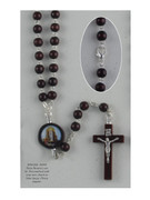 Wood Rosary: Round Bead Lourdes (RX61808)