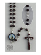 Wood Rosary: Round Bead Miraculous (RX61807)