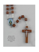 Wood Rosary Cylinder bead: Miraculous (RX72107)