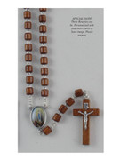 Wood Rosary Cylinder bead: Lourdes (RX72108)