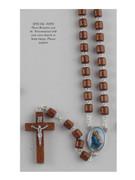 Wood Rosary: Cylinder bead: Ferruzzi (RX72140)