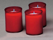 Devotional Candles: Red 18hr Pack 3