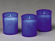 Devotional Candles: Blue 18hr Pack 3
