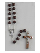 Wooden Rosary: Brown 8mm (RXL02N)