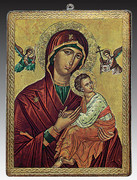 Gold Foiled Icon Plaque: Our Lady Perpetual Help (PL16433)