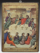 Gold Foiled Icon Plaque: Last Supper (PL16413)