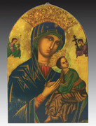 Arched Icon Plaque: Our Lady Perpetual Help (PL14633)