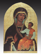Arched Icon Plaque: Our Lady of Hodegetria (PL146H)