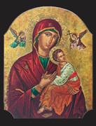Icon Wood Plaque: Our Lady Perpetual Help (PL122433)