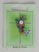 Communion Pin: Chalice and Grapes