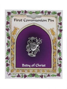 Communion Pin, All Metal Chalice and Grapes (TT191)