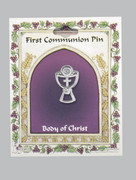 Communion Pin: Silver Chalice (PN101)