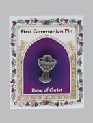 Communion Pin, Metal Chalice (TT192)