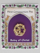 Communion Pin: Gold Plated Circular Detail (TT097G)