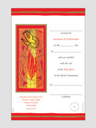 Confirmation Certificate Red and Gold