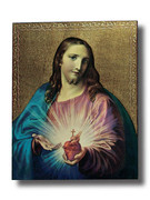 Quality Wood Plaque: Sacred Heart of Jesus (PL10201)