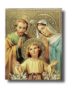 Quality Wood Plaque: Holy Family (PL10204)