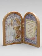 Communion Gift Bi-fold Plastic Plaque Girl(PL1111CG)