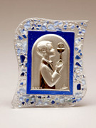 Communion Gift Crystal Plaque Boy