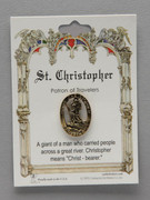 Patron Saint Pin: St Christopher Patron of Travellers