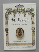 Patron Saint Pin: St Joseph Patron of Fathers & Workers