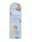 Bookmark: Communion Boy Yellow
