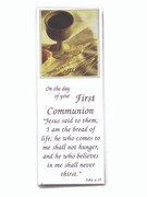 Bookmark, Communion Wheat & Cup (BMC030)