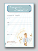 Invitation Set: Communion Blue/Boy (20)(INC6659)